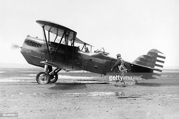 Vintage image of US Army Air Corp Pursuit Biplane