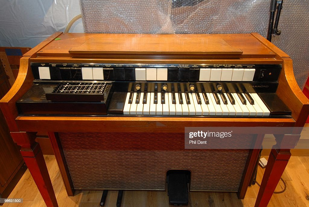A vintage keyboard organ at the Paint Factory recording studio on 22nd October 2008 in the United Kingdom.