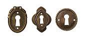 Vintage keyholes collection as decorative design elements