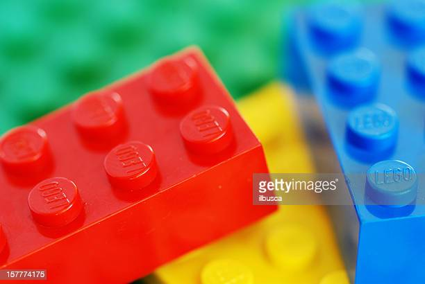 vintage lego bricks from the 80s - lego stock pictures, royalty-free photos & images