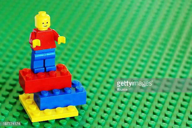 vintage lego character and bricks from the 80s - lego stock pictures, royalty-free photos & images