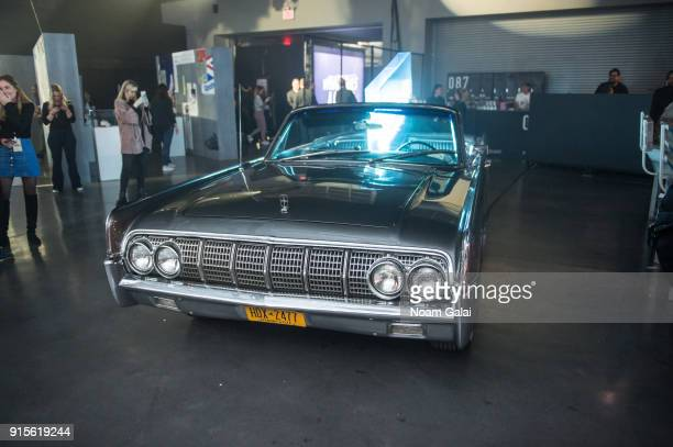 Vintage Lincoln car on display during Reebok's 'Breaking Classic' at Classic Car Club on February 7 2018 in New York City