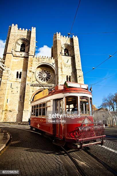 Vintage Lisbon Red Tram