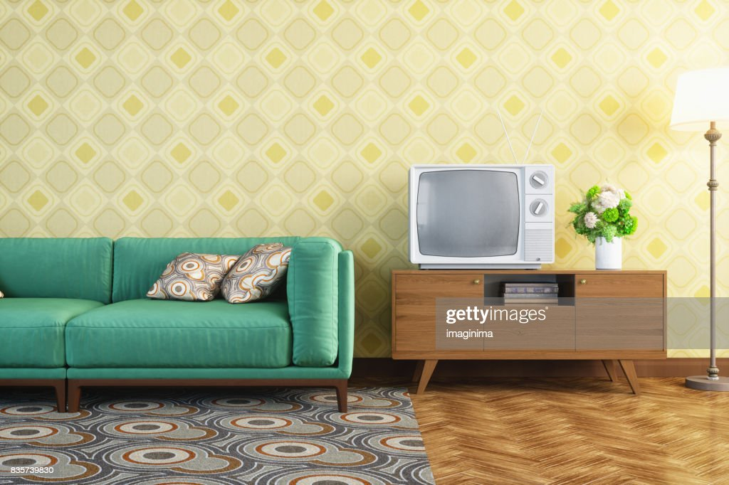 Vintage Living Room Interior : Stock Photo
