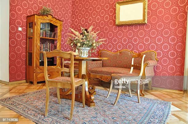 vintage salle de séjour - sol caractéristiques d'une construction photos et images de collection