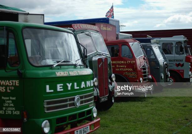 Vintage lorries are displayed during the Duncombe Park Steam Rally on July 1 2017 in Helmsley United Kingdom Held annually in the picturesque...