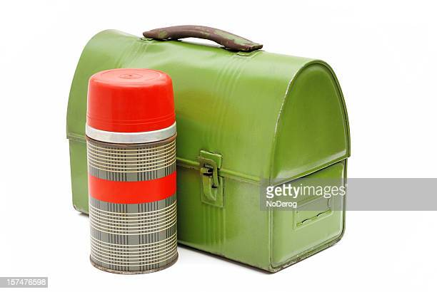 Vintage lunch box and thermos