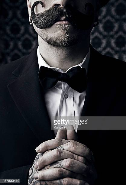 vintage man - top hat stock pictures, royalty-free photos & images