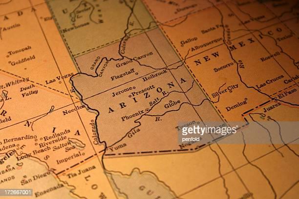 vintage map of Arizona