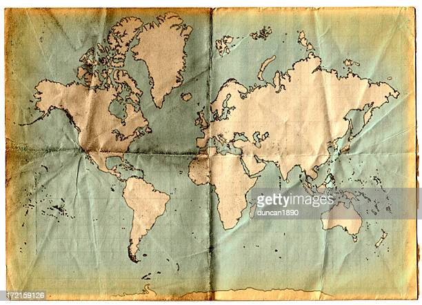 mappa vintage - antico condizione foto e immagini stock