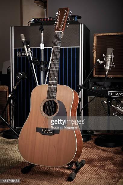 A vintage Martin acoustic guitar belonging to Pink Floyd guitarist David Gilmour taken on December 5 2014