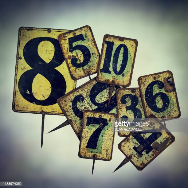 vintage metal price tags - bid stock pictures, royalty-free photos & images