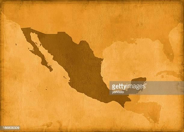 Vintage mexico map