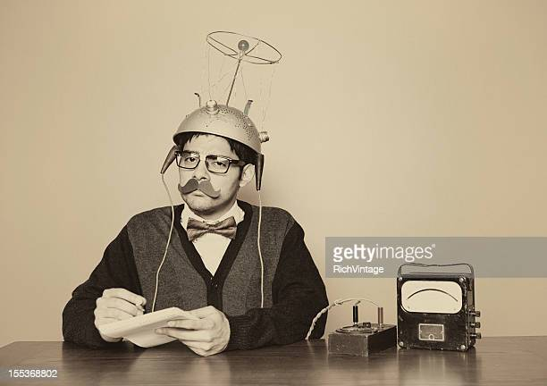vintage mind reader - time travel stock pictures, royalty-free photos & images