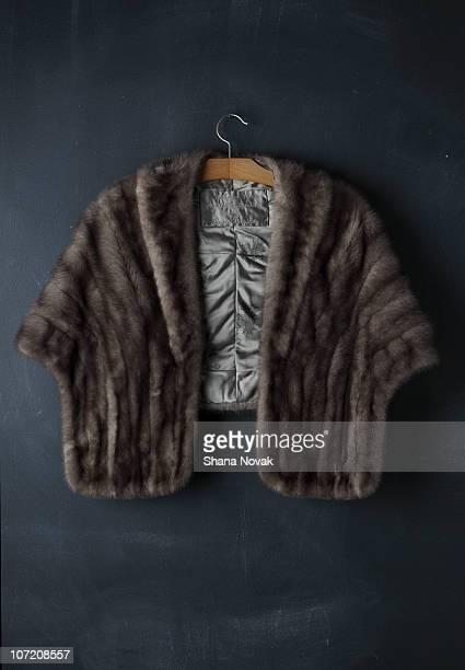 vintage mink coat - 毛皮 ストックフォトと画像
