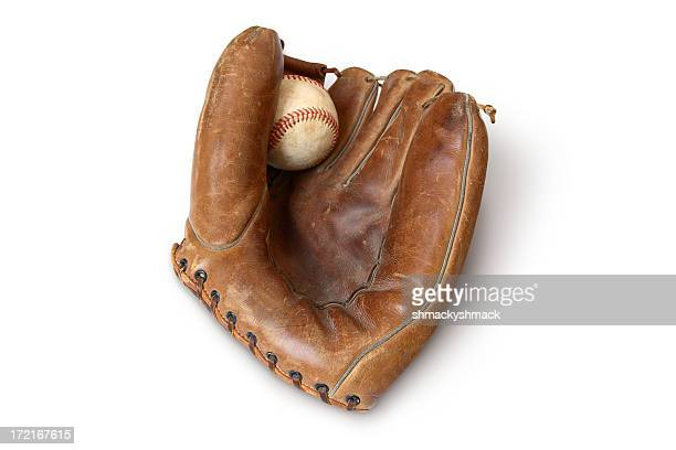 vintage mitt 2 - leather glove stock pictures, royalty-free photos & images