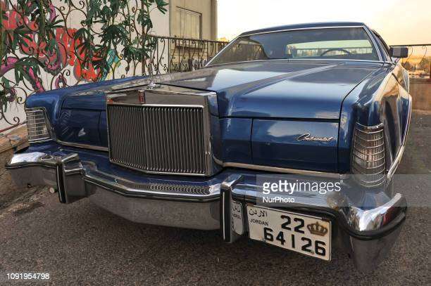 A vintage model of Lincoln Continental car seen in the Old Town of Amman On Thursday January 31 in Amman Jordan