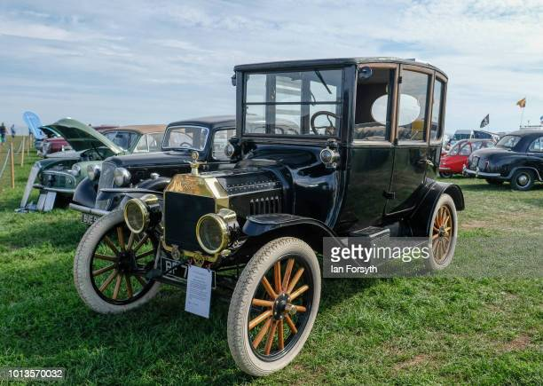 Vintage Model T Ford motor Car is shown during the final day of the Whitby Traction Engine Rally on August 5, 2018 in Whitby, England. Situated close...