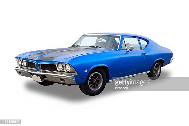 vintage muscle car - 1970s muscle cars stock pictures, royalty-free photos & images