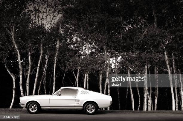 vintage muscle car - hot rod car stock photos and pictures