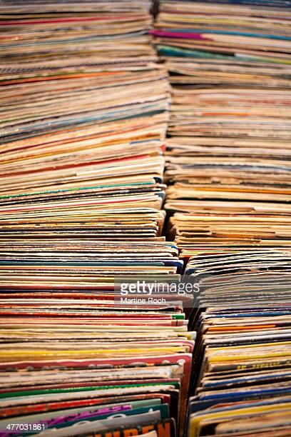 vintage music disks