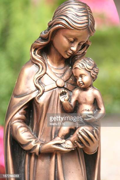 vintage nativity scene figurine - sistine madonna stock pictures, royalty-free photos & images