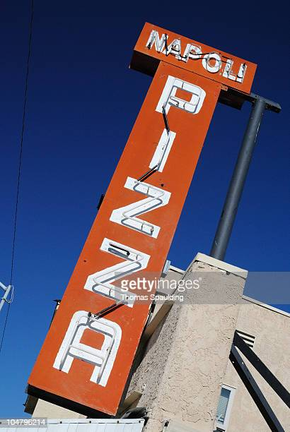 Vintage neon sign for the pizza restaurant Napoli at 124 Tennessee St.,Vallejo, CA.
