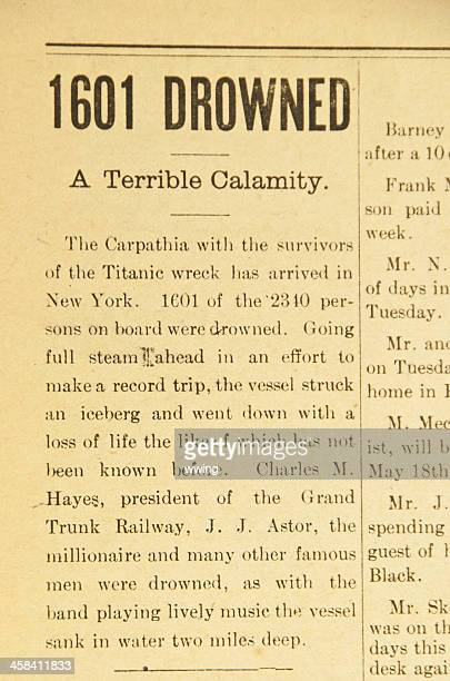 Vintage Newspaper Article ... The Titanic
