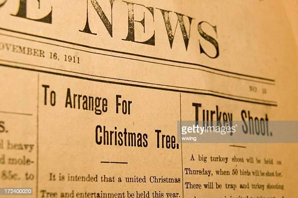 Vintage Newspaper at Christmas