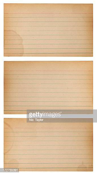 ビンテージ notecards xxxl - インデックスカード ストックフォトと画像