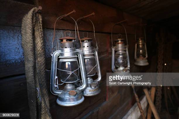 vintage oil lamps - oil lamp stock pictures, royalty-free photos & images