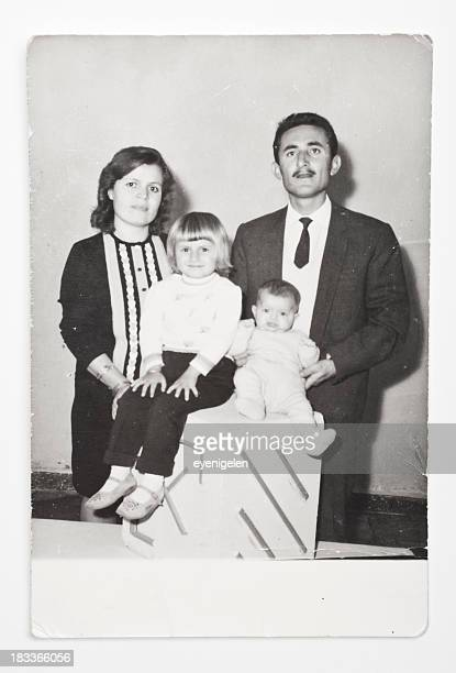 vintage old photograph of a family - photograph stock pictures, royalty-free photos & images