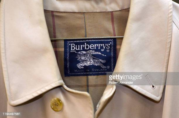 Vintage or used Burberrys trench coat for sale at an antique shop in Santa Fe, New Mexico. In 1999 the company, headquartered in London, England,...