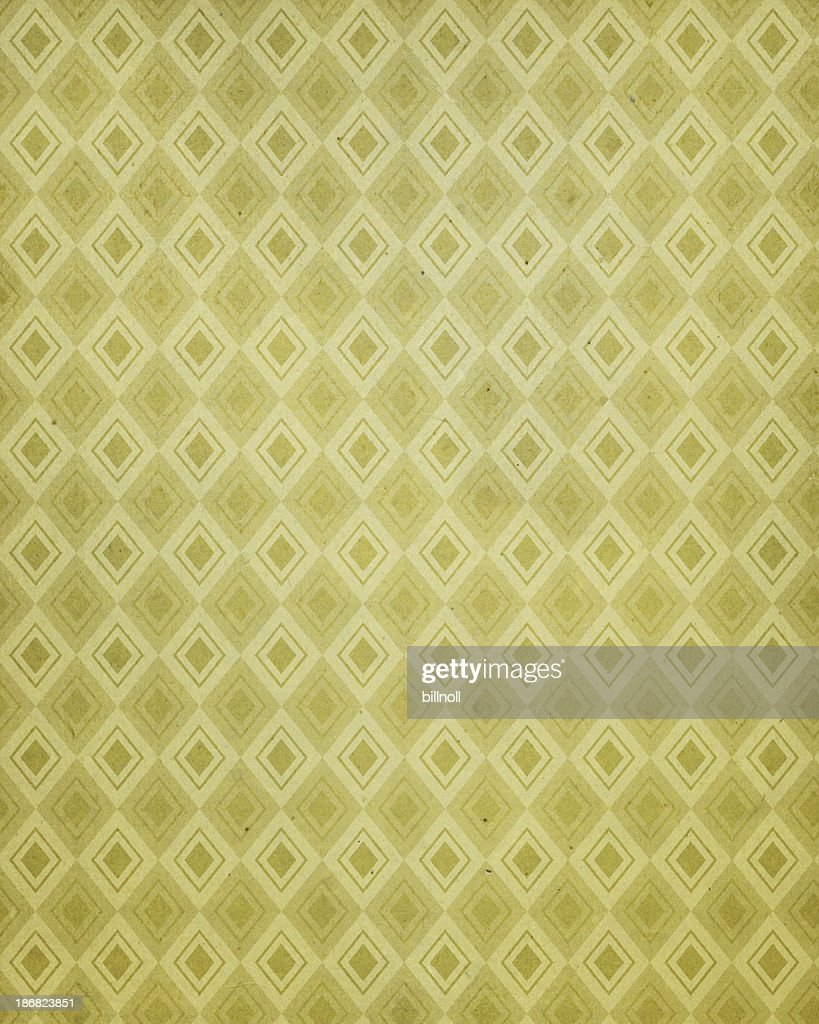 vintage paper with 60's style pattern : Stock Photo