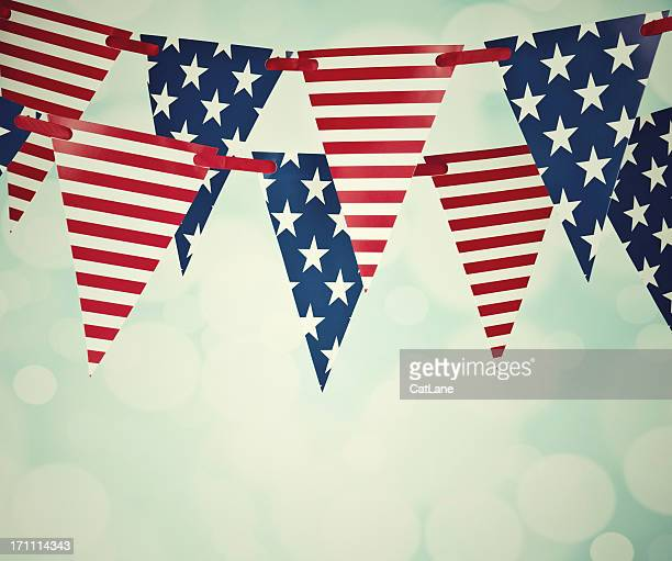 Vintage Patriotic Party Flags