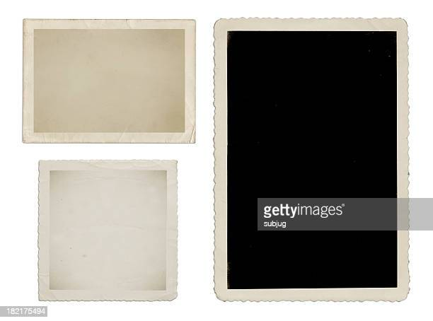Vintage photo album with frames