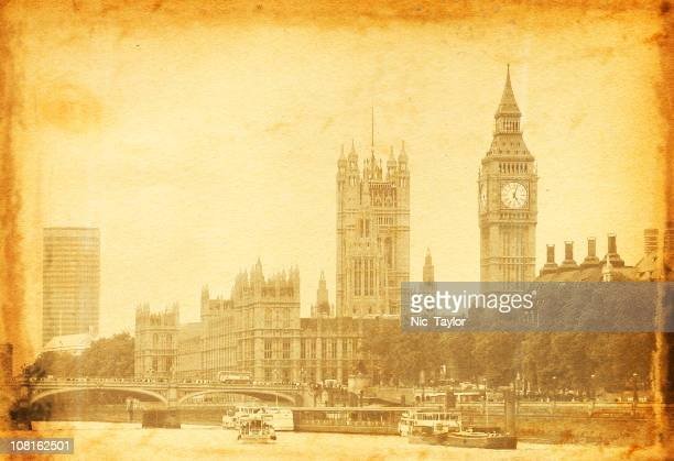 Vintage Photo: Big Ben and House of Parliament