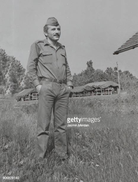 vintage photo from old album of man with military uniform - archival photos stock photos and pictures