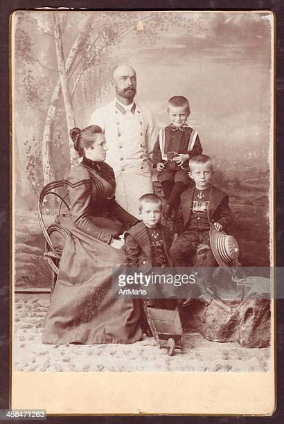 vintage photo of a family - beautiful wife pics stock pictures, royalty-free photos & images