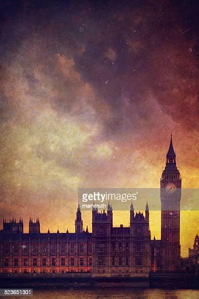 Vintage photo of the Big Ben