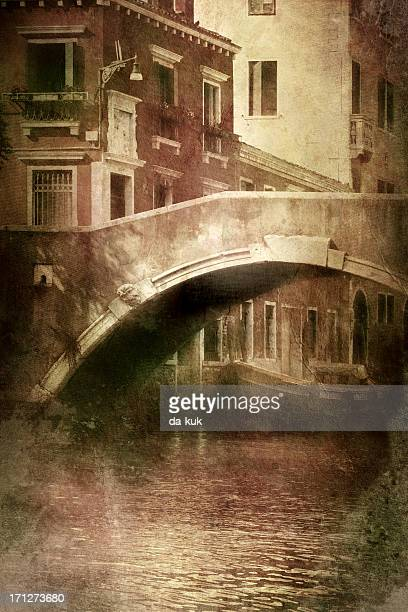 Vintage photo of  venetian canal
