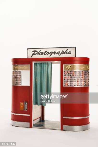 Vintage Photobooth on white background