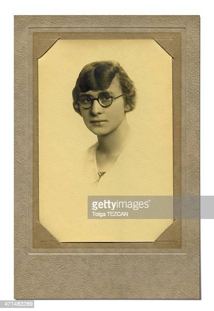 Vintage Foto de una mujer joven