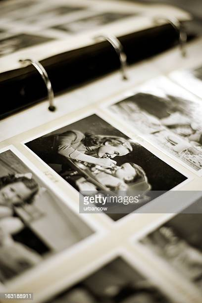 vintage photograph - photo album stock photos and pictures