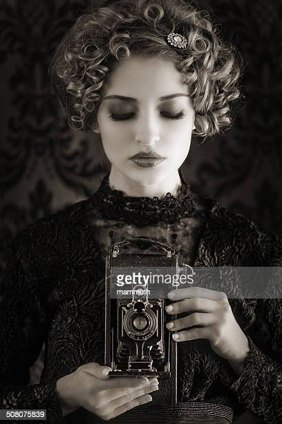 vintage photographer woman