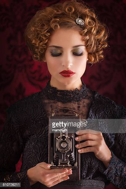 vintage photographer woman