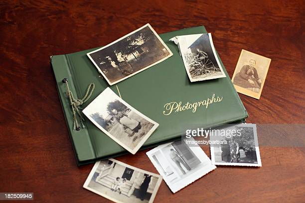 vintage photos - photo album stock photos and pictures