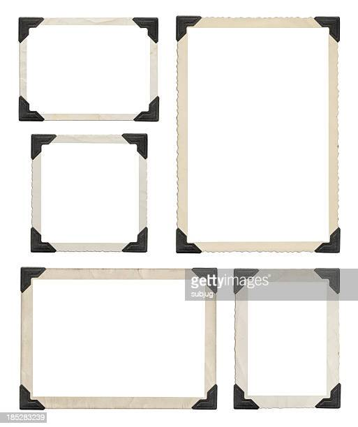 Vintage picture frames with clipping path