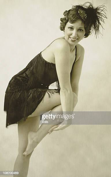 vintage pinup - flapper stock photos and pictures
