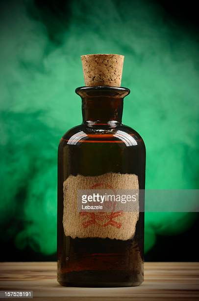 vintage poison bottle - toxin stock pictures, royalty-free photos & images